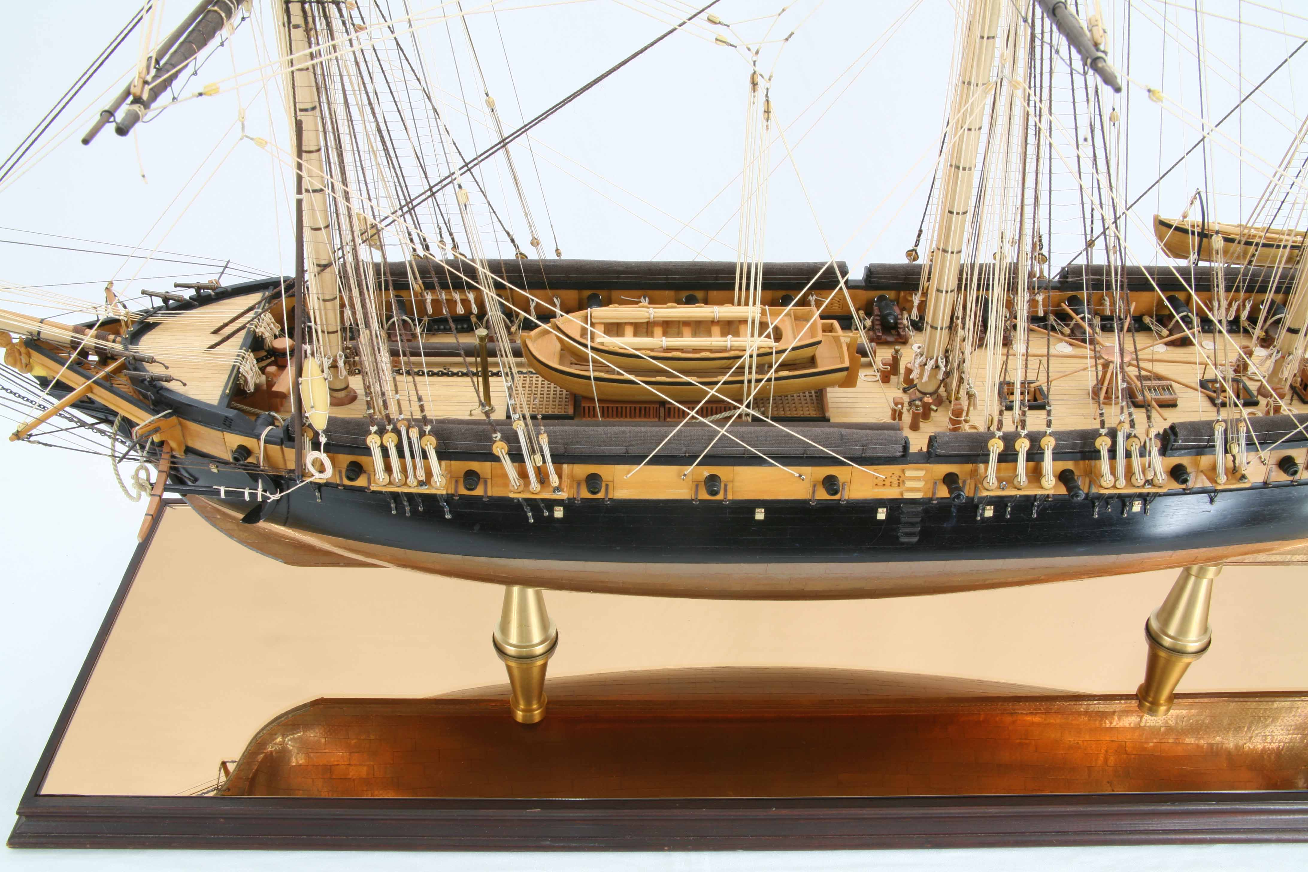 ship model french corvette la creole   details