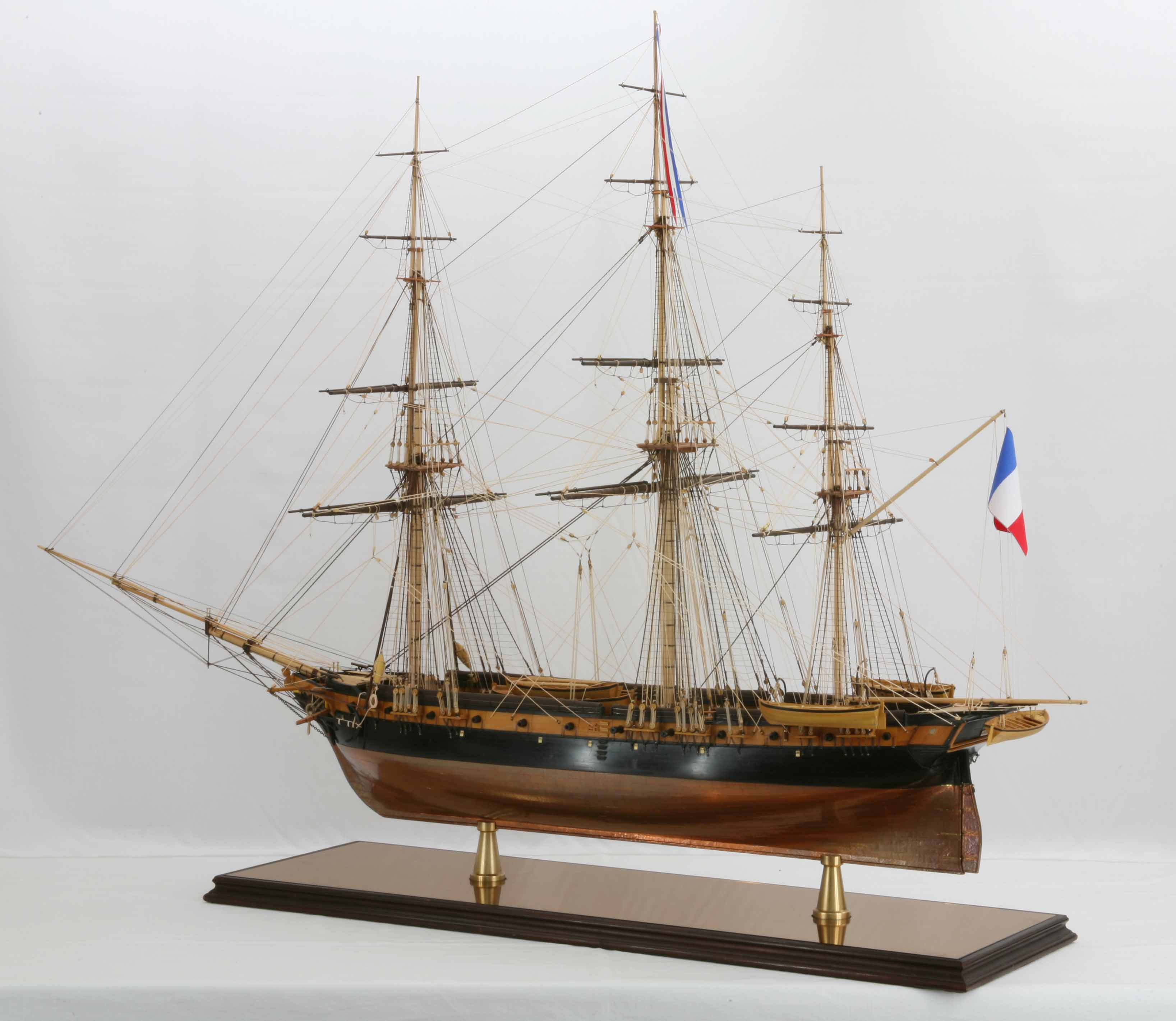 Ship model French corvette La Créole of 1827  Tall ship