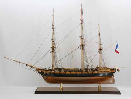 Photos ship model French corvette La Créole of 1827
