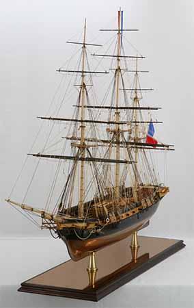 Modèle historique, la corvette La Créole de 1827
