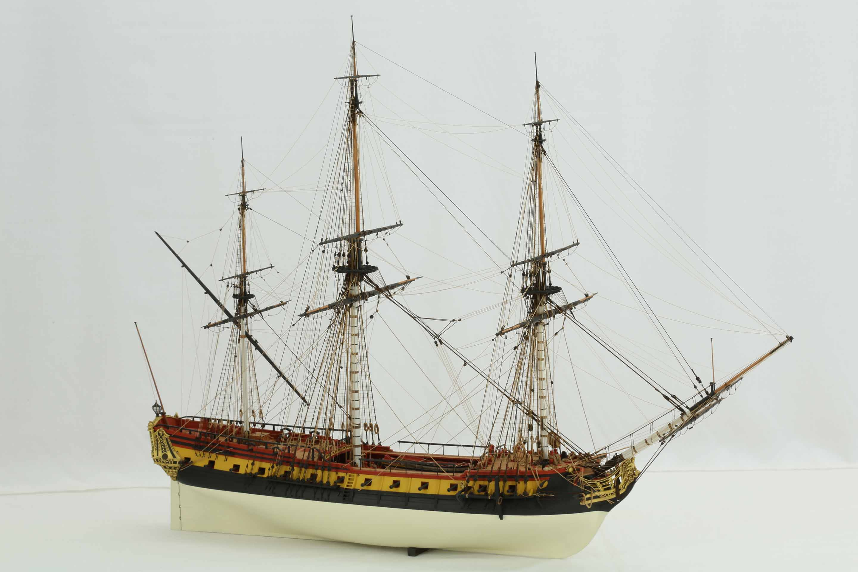 Photos of ship model French frigate La Renommée of 1744, 1