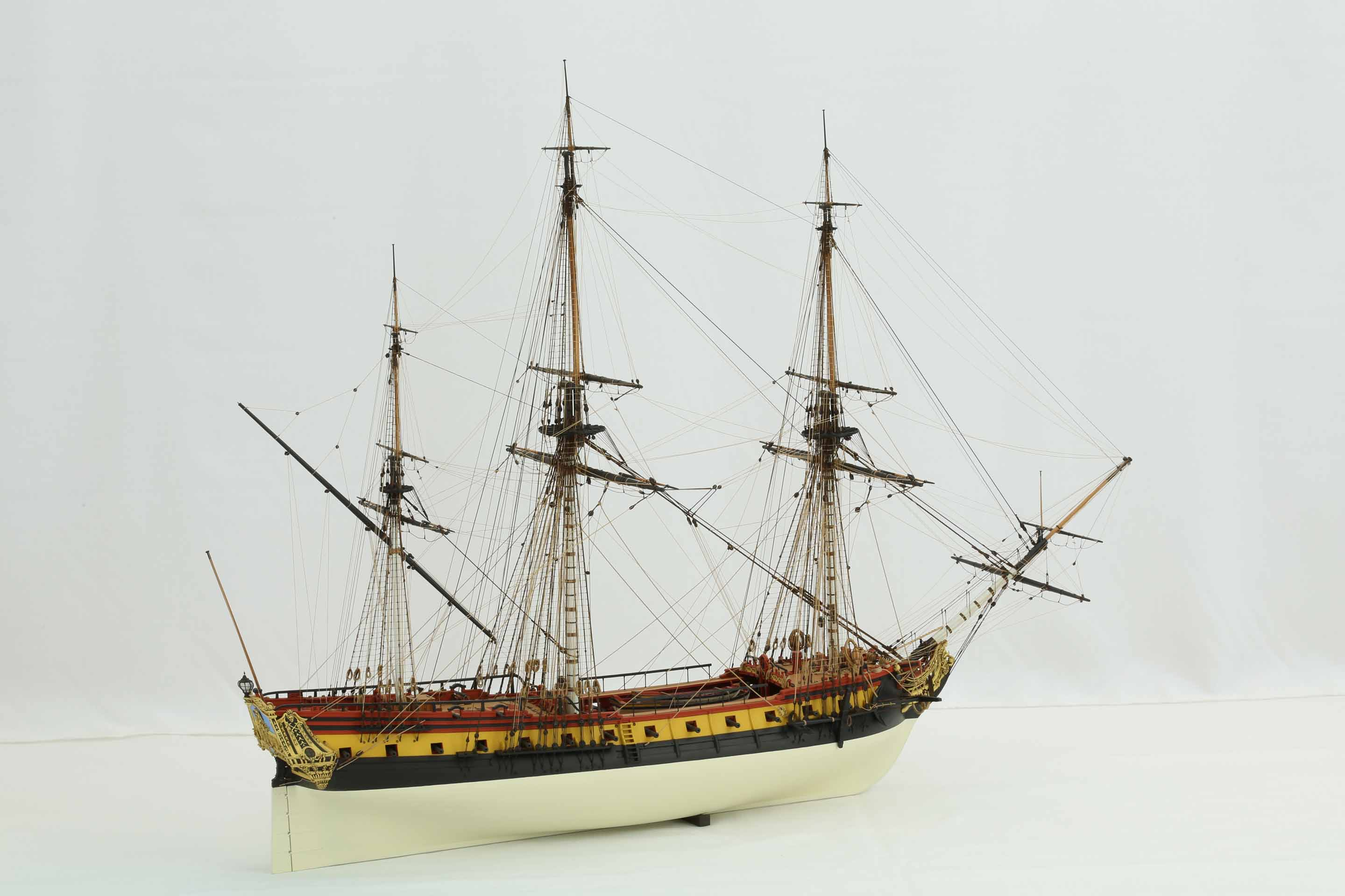 Photos of ship model French frigate La Renommée of 1744, 1 ...
