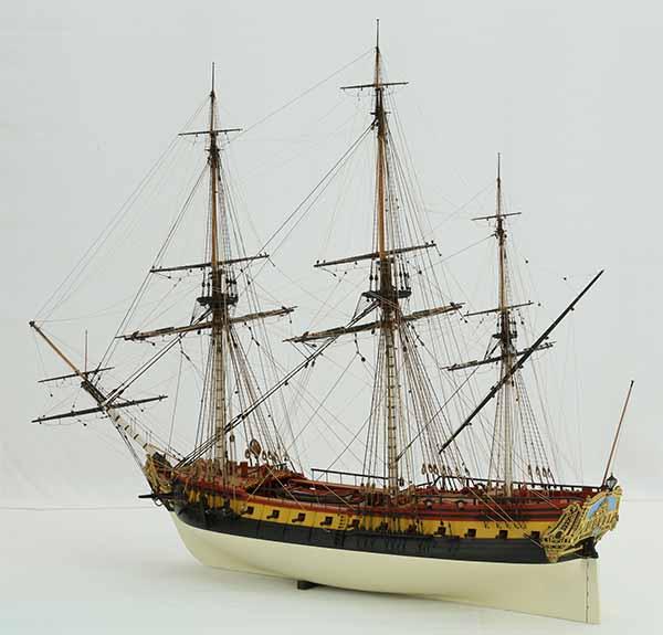 Ship model French frigate La Renommée of 1744, 1 : 75 scale