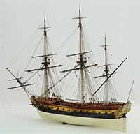 Schiffsmodell französische Fregatte La Renommée von 1744