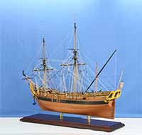 Ship model French expedition ship La Belle of 1689
