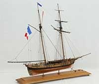 Ship model French schooner La Jacinthe of 1823