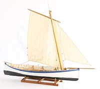 Ship model Largs line skiff from Scotland of 1890