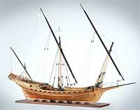 Ship model French chebec Le Requin of 1751