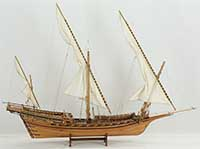 Model ship French Chebec Le Requin of 1751