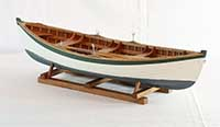 Model of a Maine Peapod fishing boat of late 19th century
