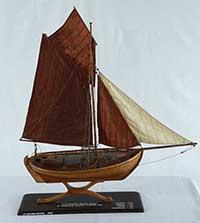 Model of herring boat Maries Minde of Hundested, Denmark, built in 1895