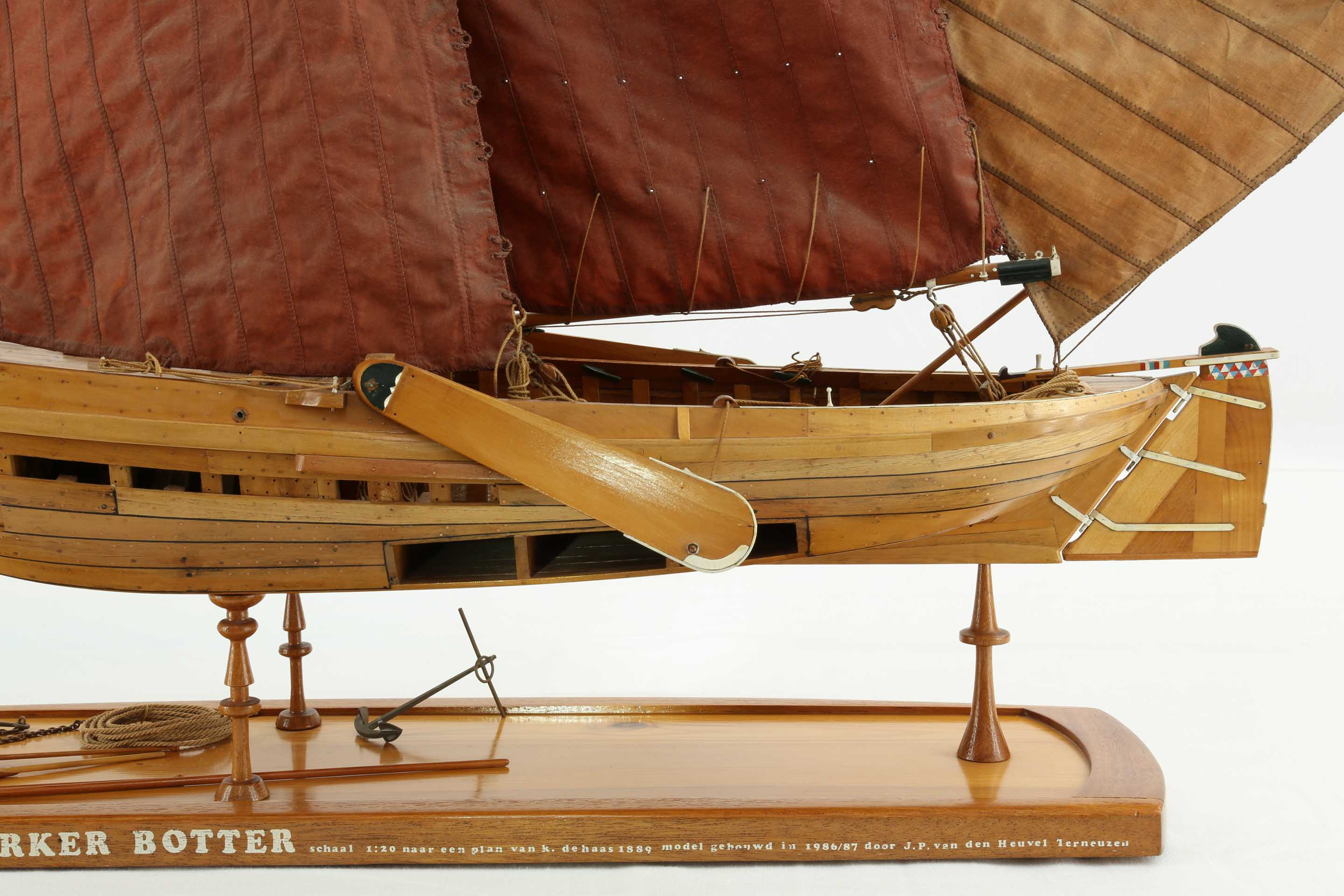 Close The Door >> Photos ship model Dutch fishing boat Marker Botter of 1889 ...