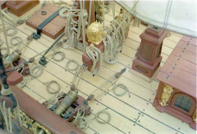Quality ship model, fine detail
