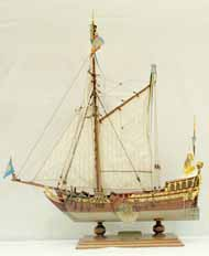 Model of a splendid yacht of 1711
