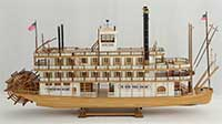 Ship model Mississippi steamboat of 1870
