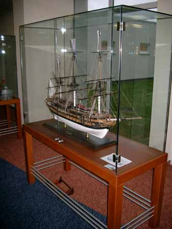 Ship model in the Morada-Resort Kuehlungsborn at the Baltic Sea