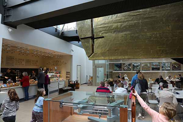 Photos of Cutty Sark in Greenwich, the hull under her glass roof