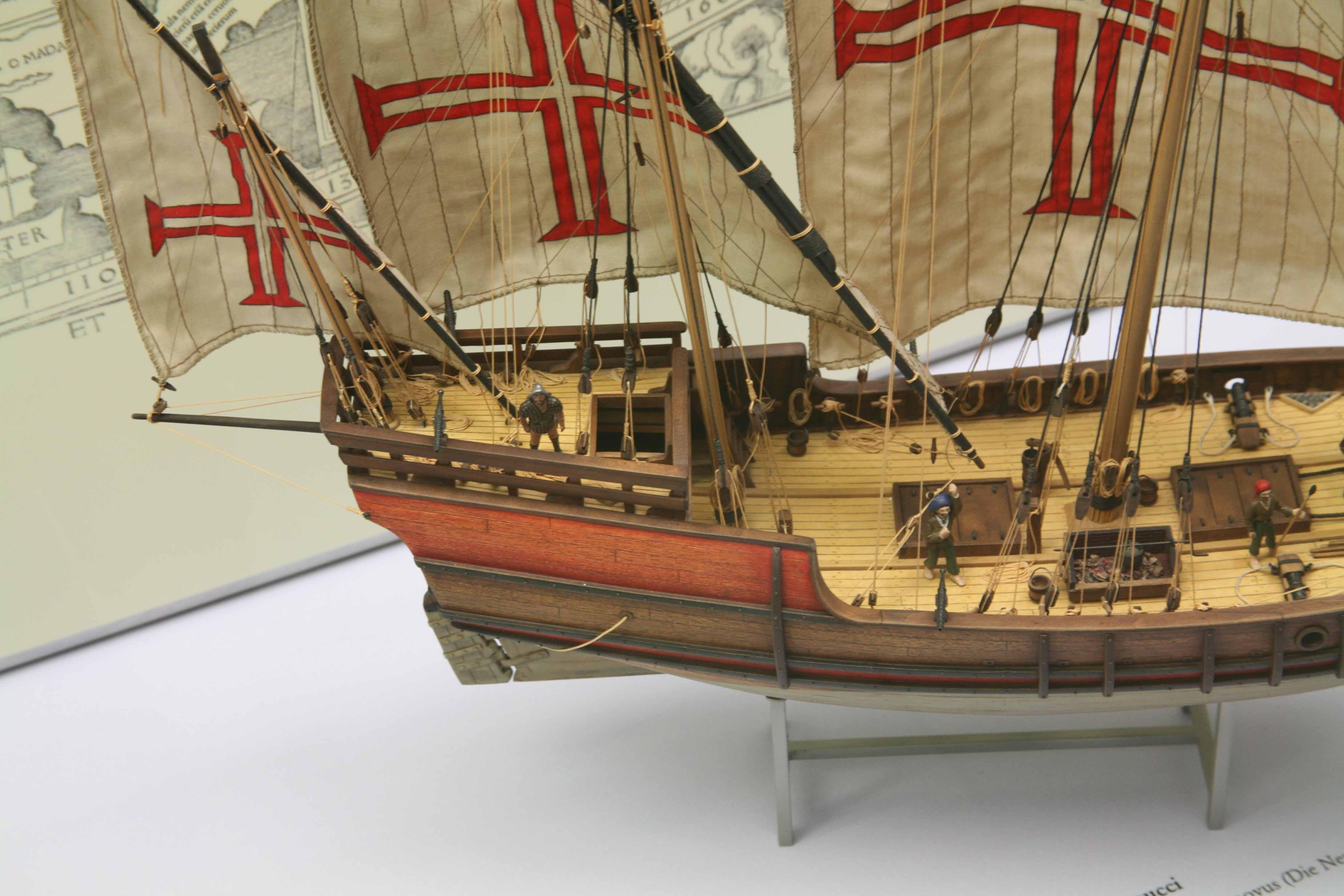 Model of Portuguese caravel in the Deutsche Museum, Munich