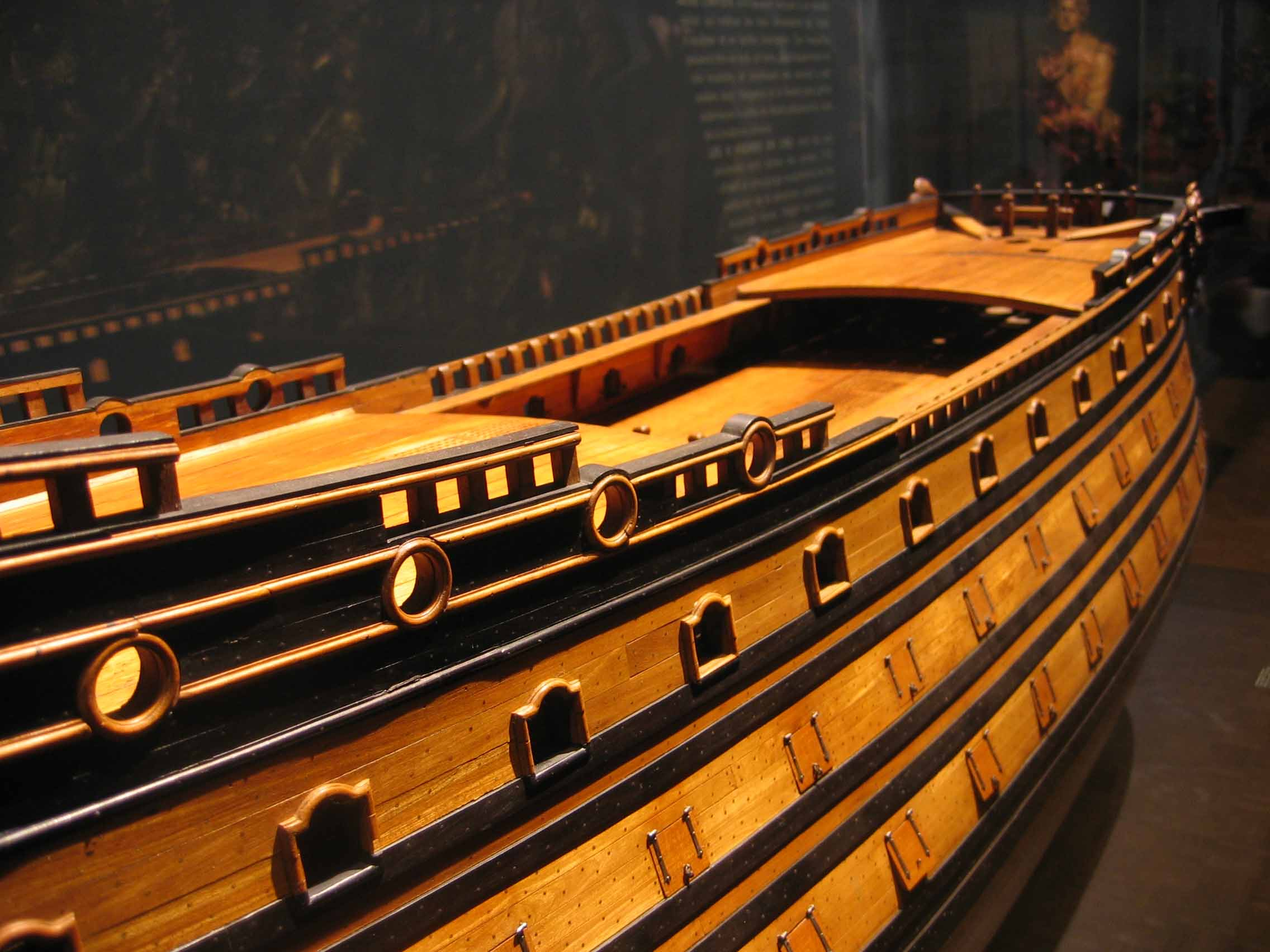 Photos of model of Le Soleil Royal in the Musée de la ...
