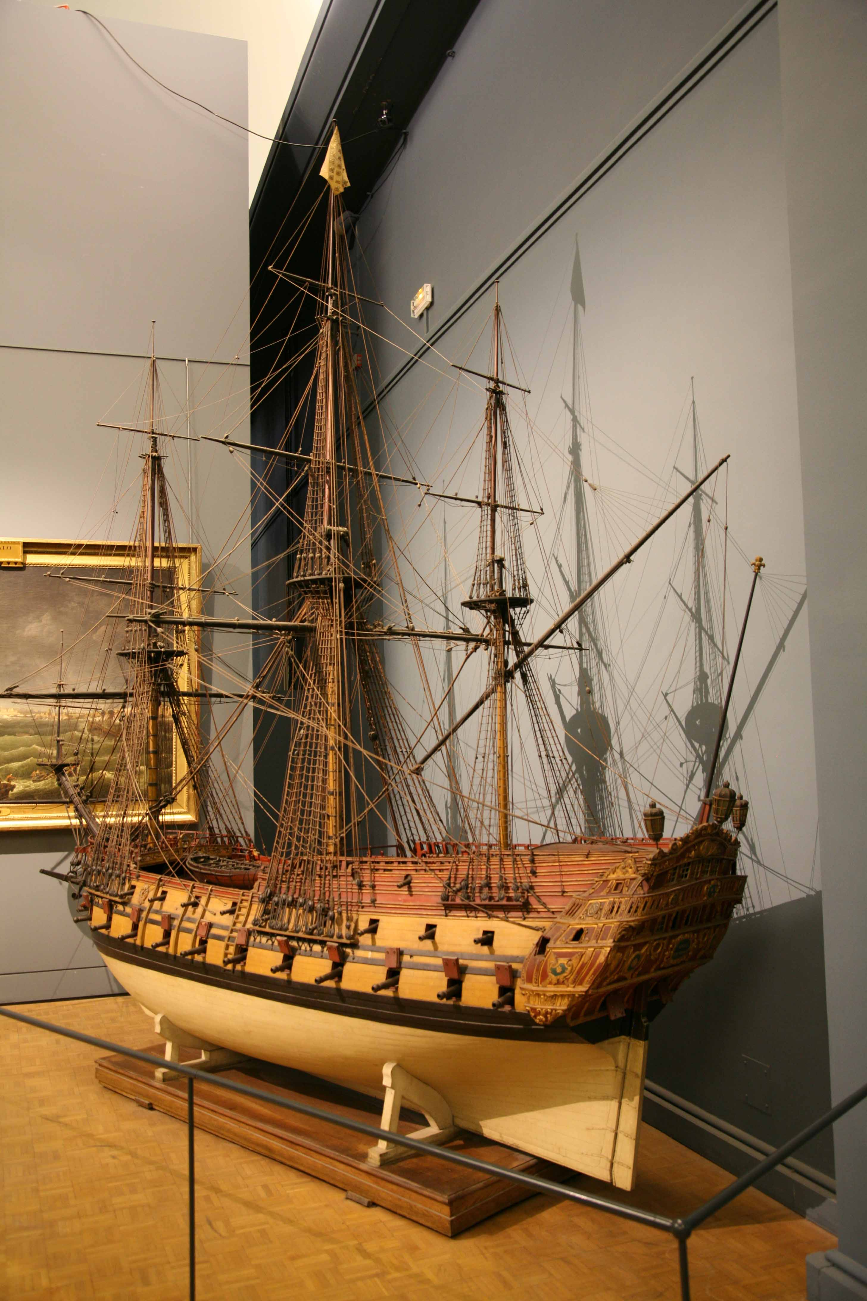 Photos of model of Louis le Grand, scale 1 : 12