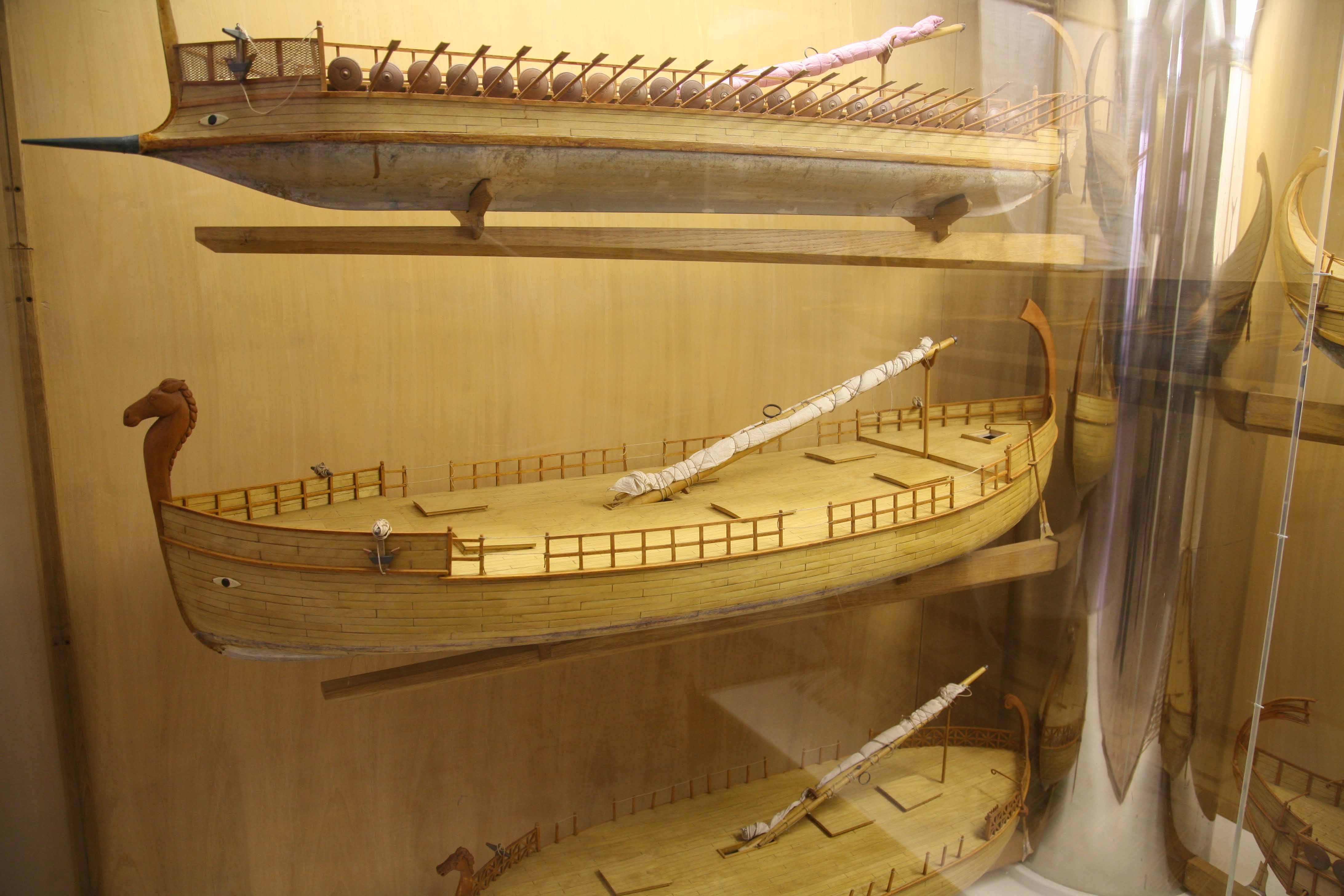 Photos of Models of Phoenician Ships 7th century B.C., at ...