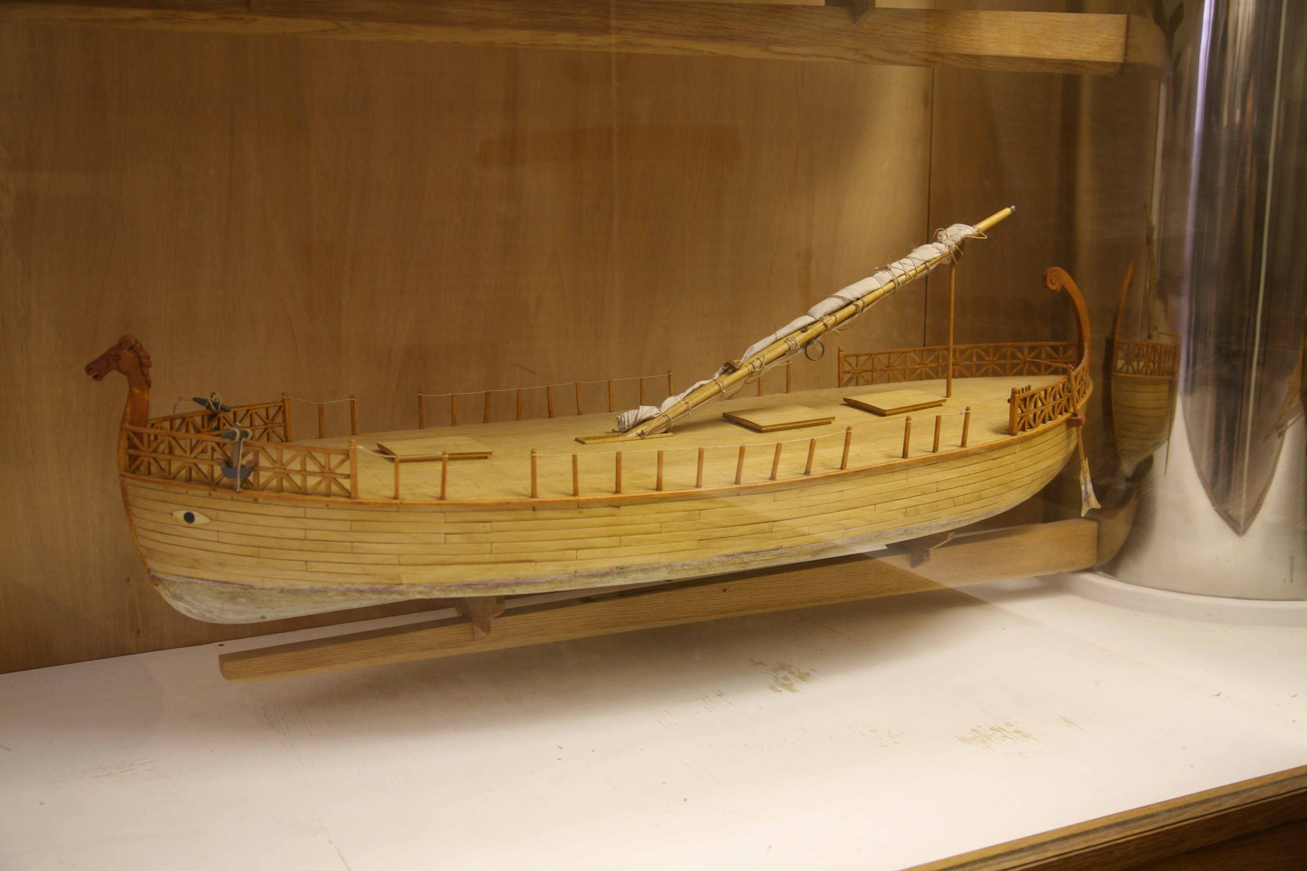Photos Of Models Of Phoenician Ships 7th Century B C   At