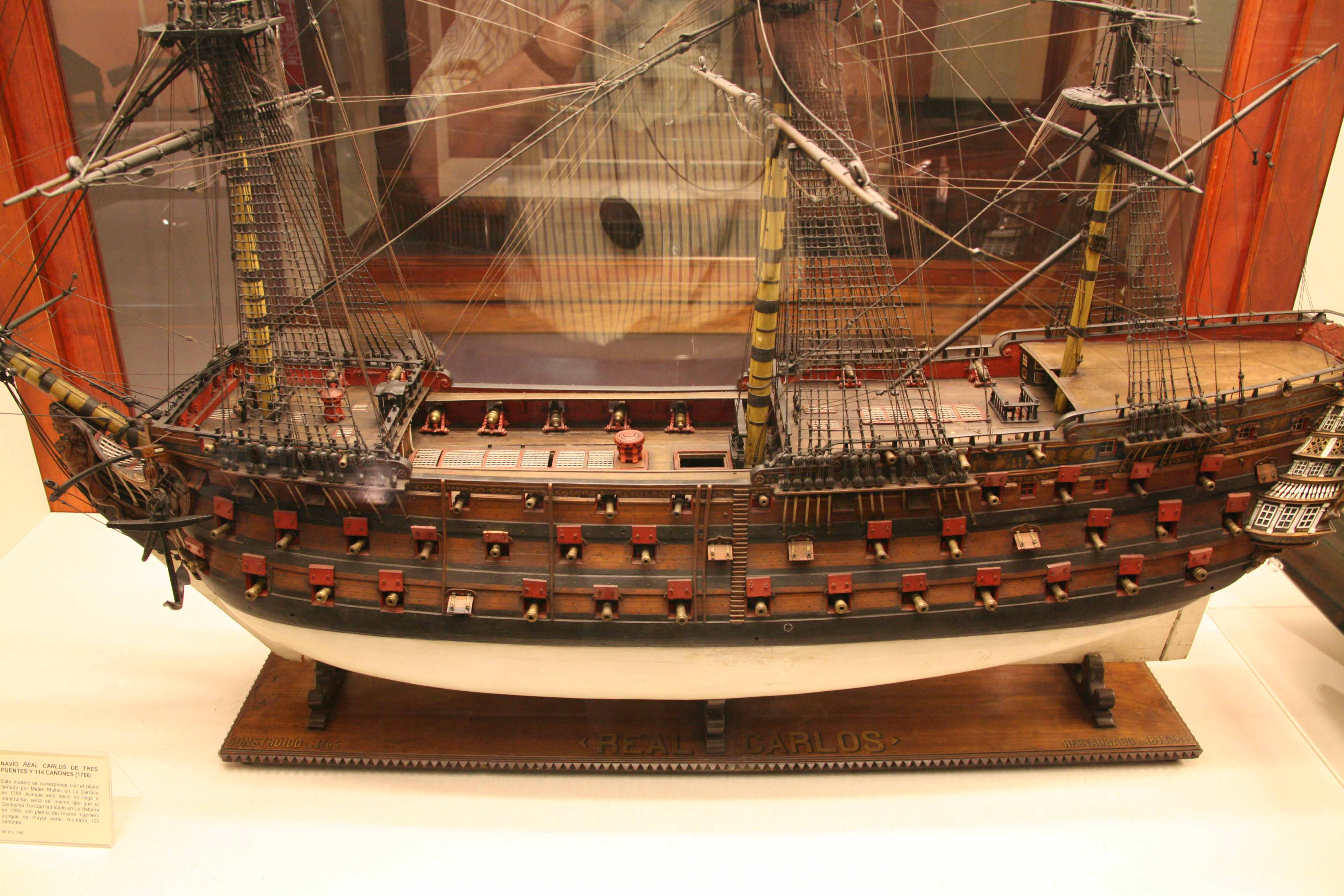 Photos model of the Real Carlos, 1766, Museo Naval, Madrid