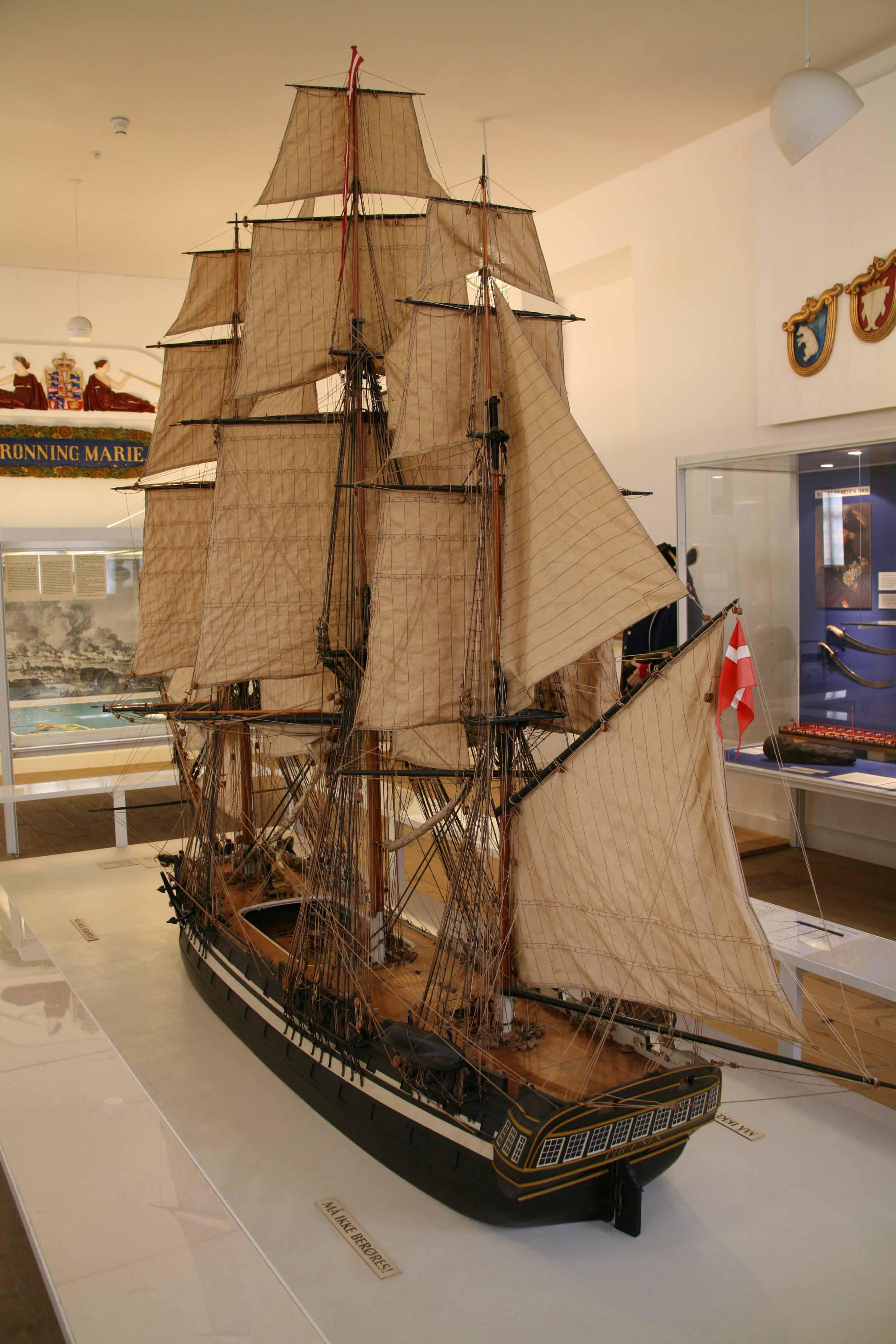 Ship Model PHOENIX Of 1810 In Orlogsmuseet Copenhagen