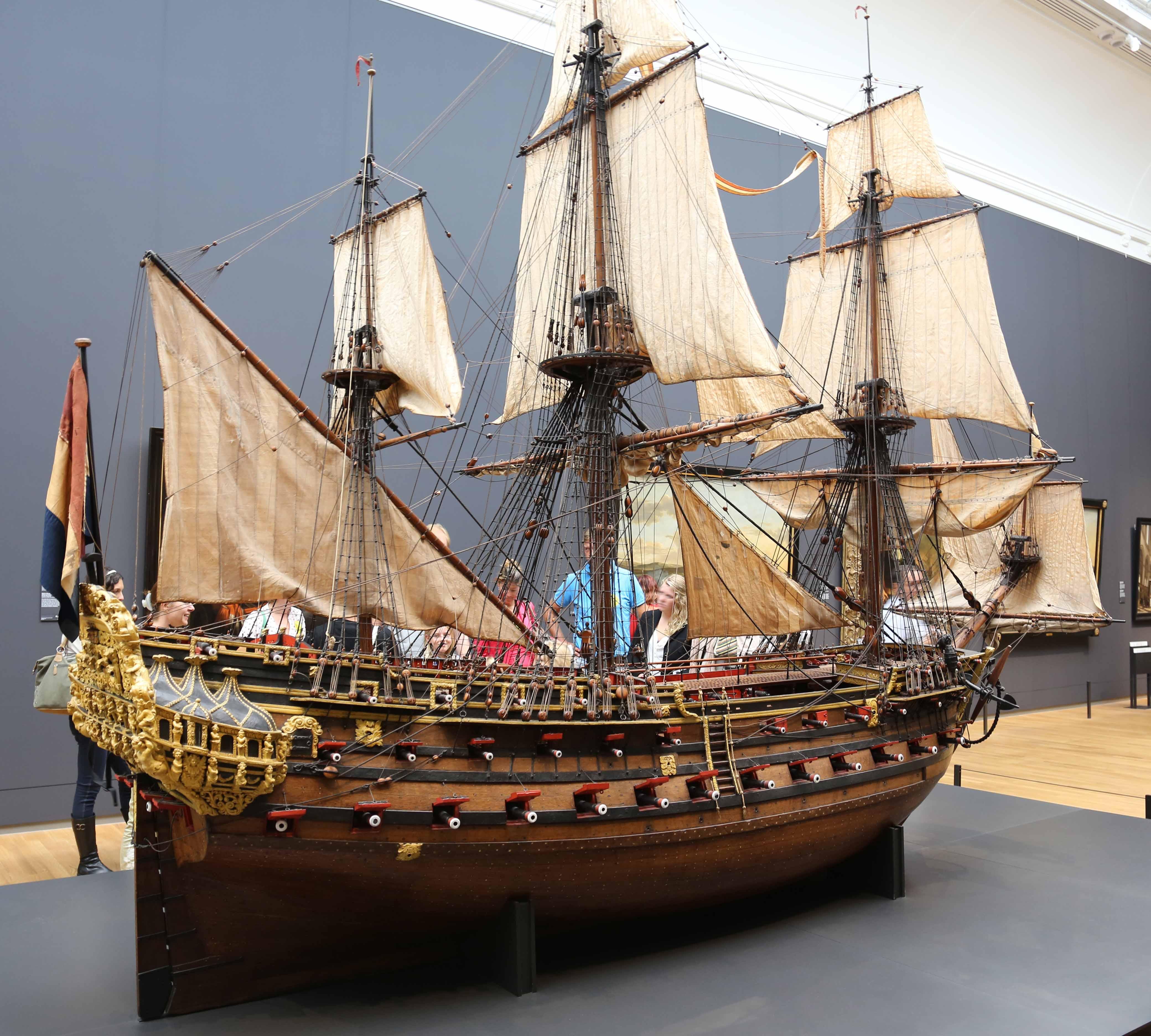 Model Of The 72 Gun Ship William Rex 1698 Rijksmuseum
