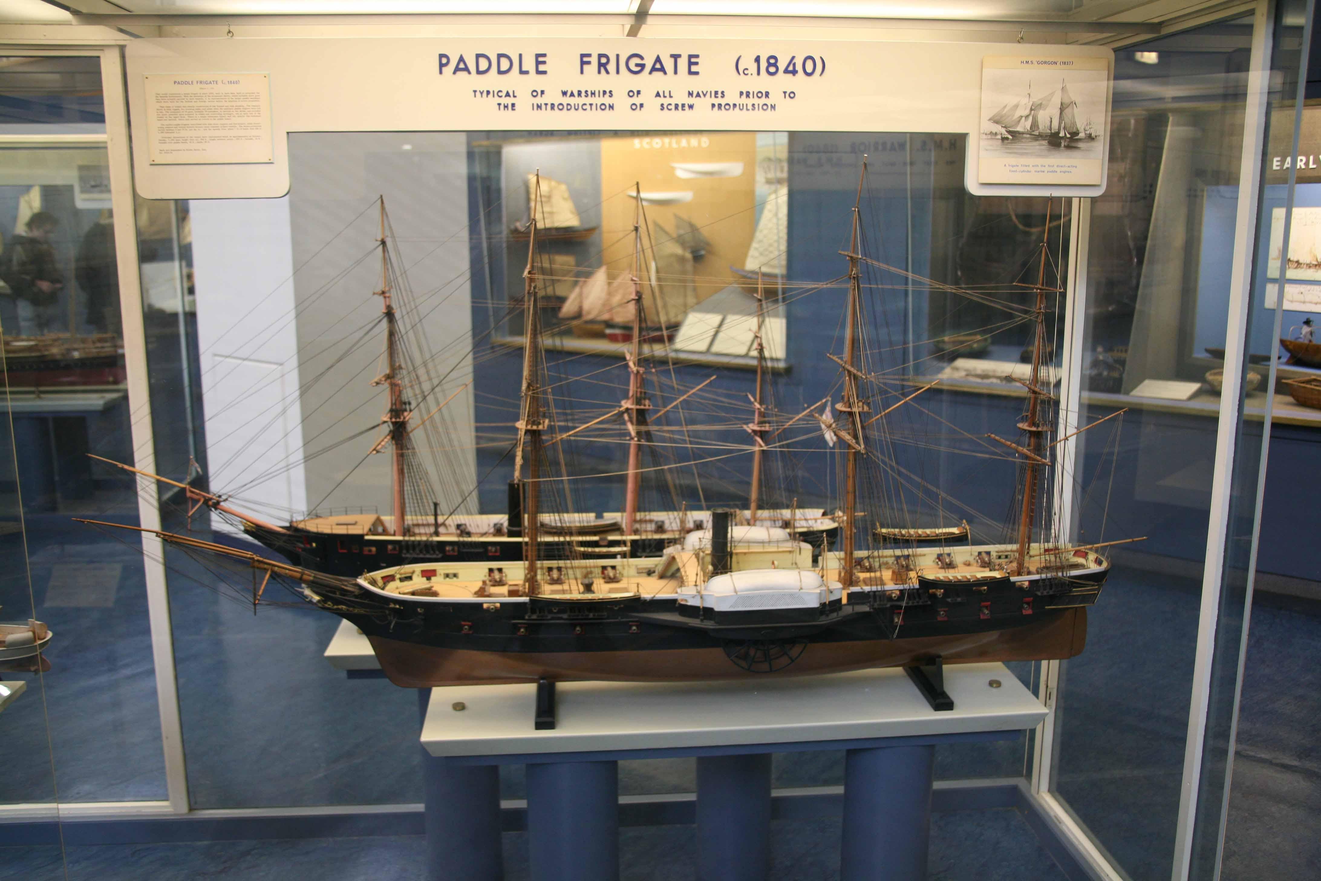 Photos ship models paddle frigates 1840