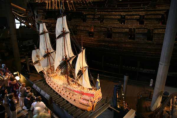 Vasa model 1 : 10 scale in Vasa Museum, Stockholm