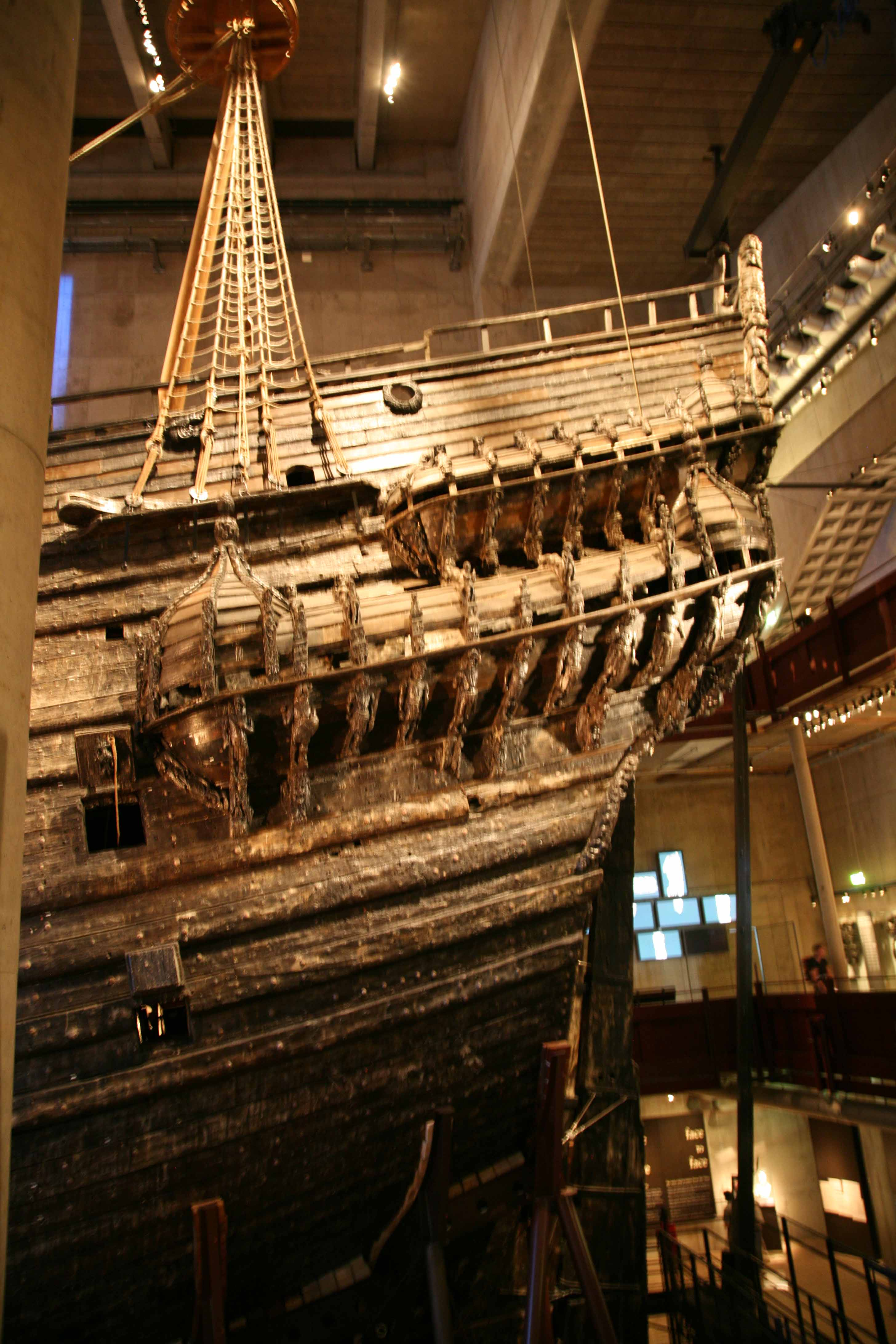Photos of Vasa ship in the Vasa museum Stockholm