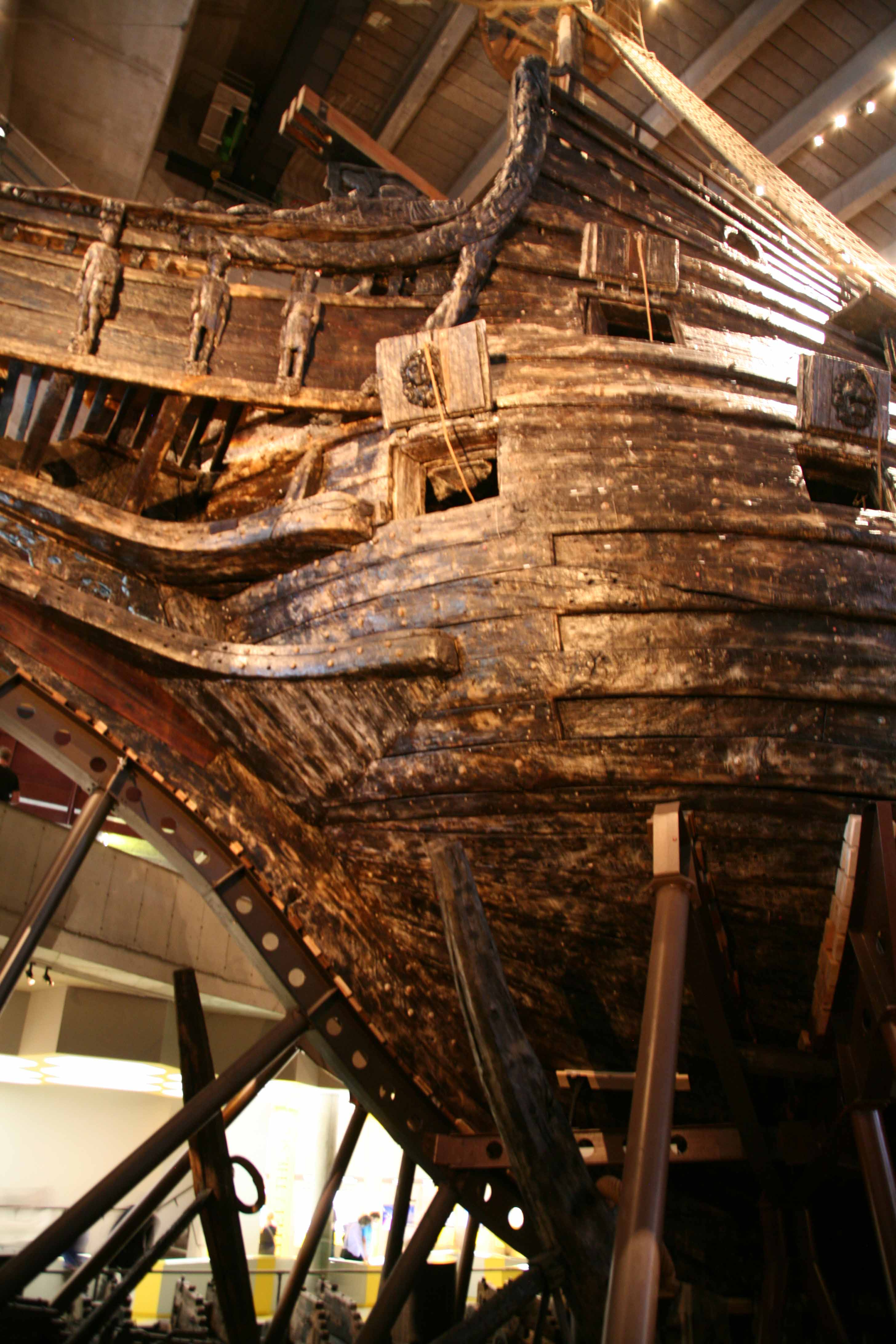 Photos of Vasa ship in the Vasa museum Stockholm