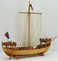 Ship model nef from Winchelsea, 13th century