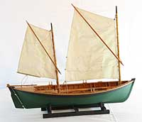 Model of a No Man's Land Boat of late 19th century