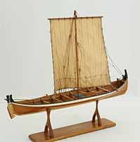 Ship model Nordland boat (Norwegian: Nordlandsbåt)of 1847 in 1 : 20 scale