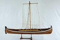 Ship model Nordland boat (Norwegian: Nordlandsbåt)of 1847 in 1 : 10 scale