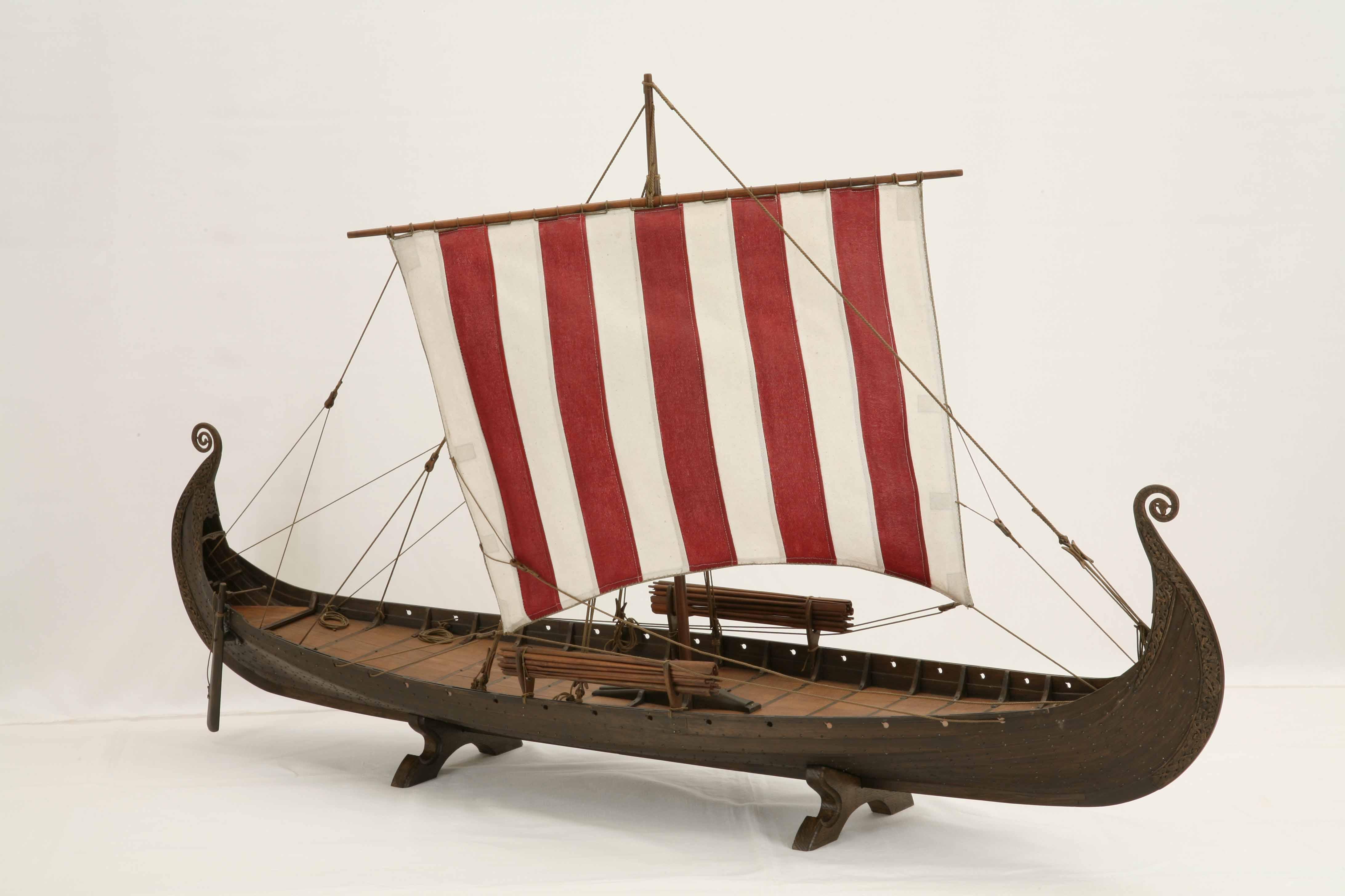 ship model oseberg ship a viking ship of 820 a d