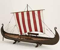 Schiffsmodell Oseberg-Schiff von 820 n.Chr.