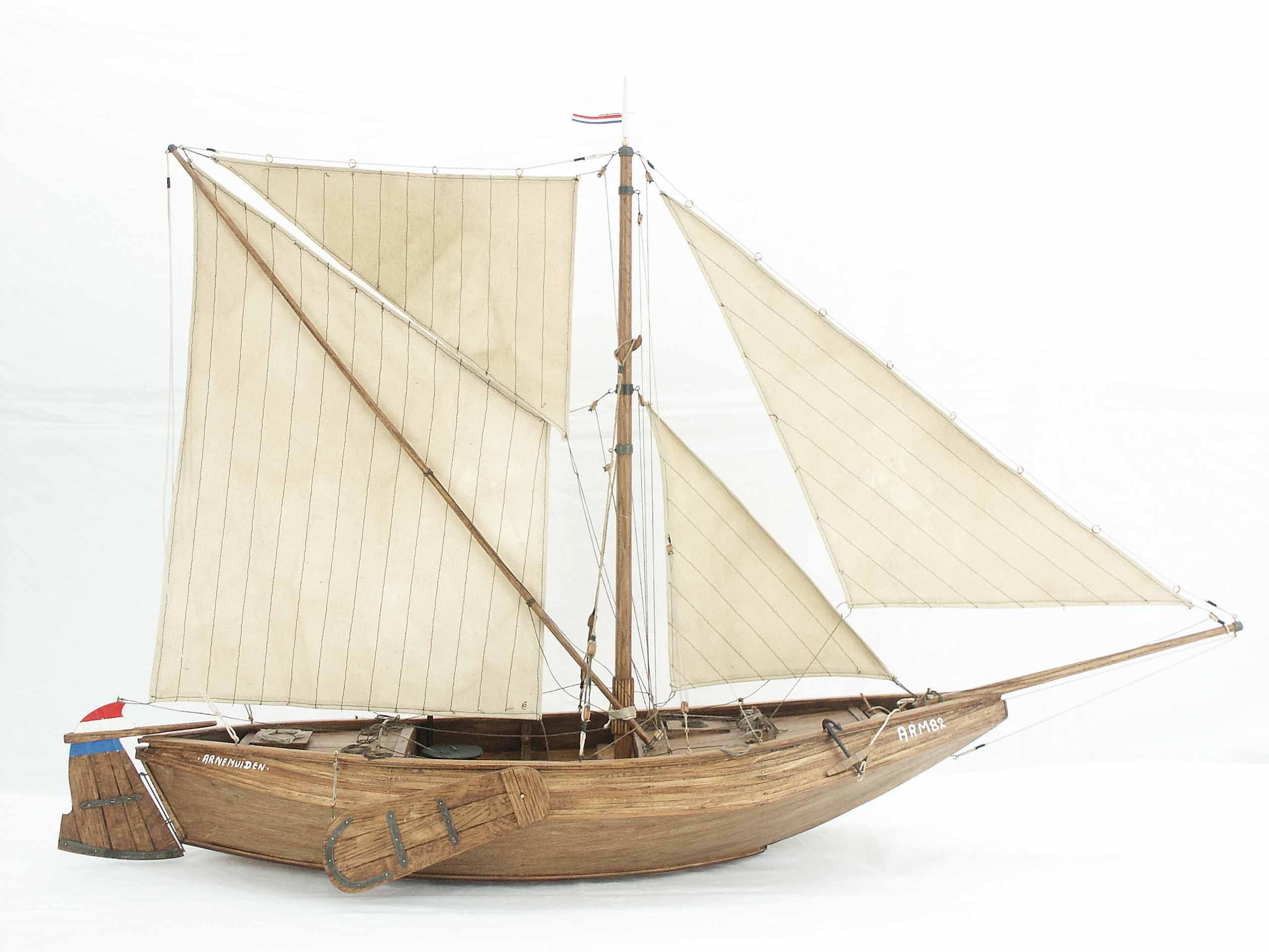 Model fishing boat hulls