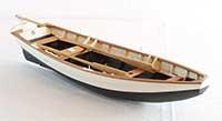 Model of a pram from Vorupør, Denmark, of 1895