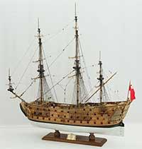 Ship model HMS Prince of 1670