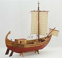 Ship model Roman trade ship of 1st century B.C.