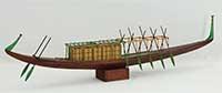 Ship model royal ship of pharaoh Cheops of 2500 B.C.