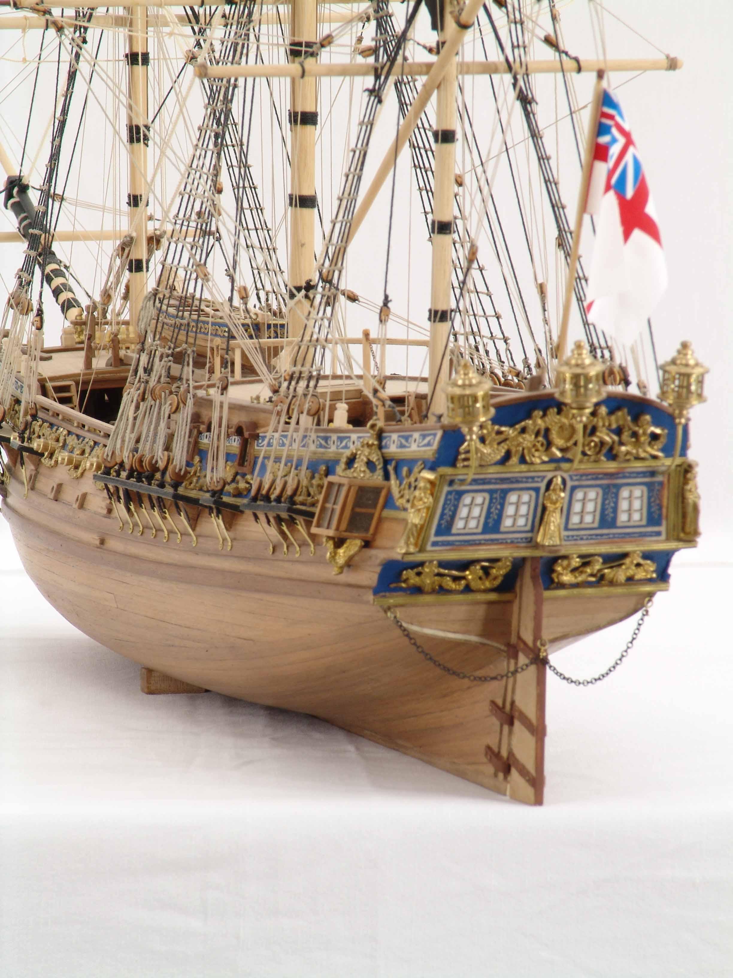 Photos ship model Royal Caroline, details