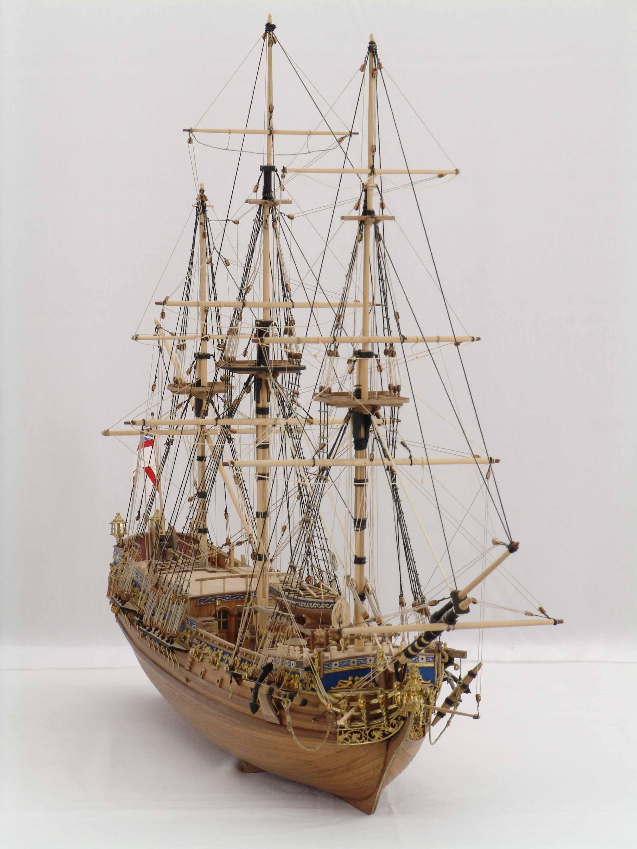 Ship Model ROYAL CAROLINE Of 1749