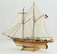 Ship model German schooner Hansine, 19th century