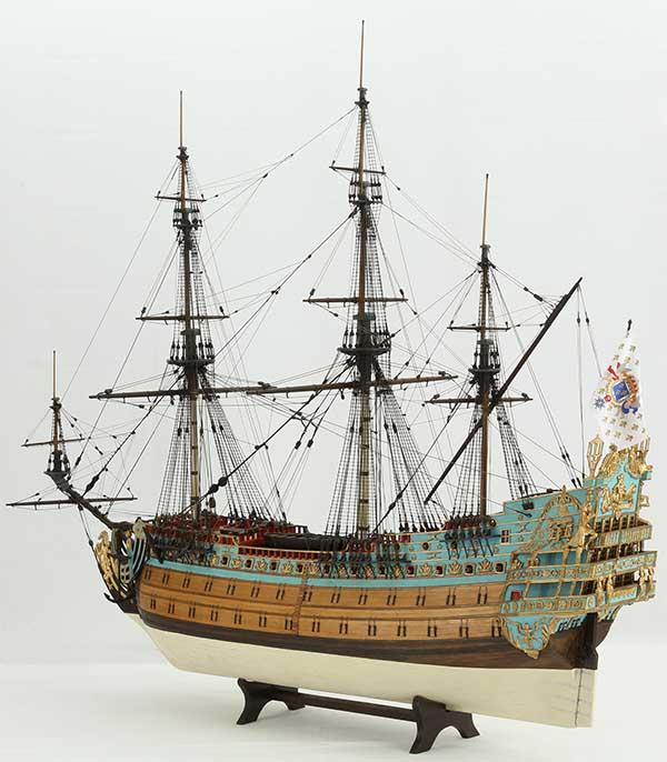 Schiffsmodell SOLEIL ROYAL von 1669