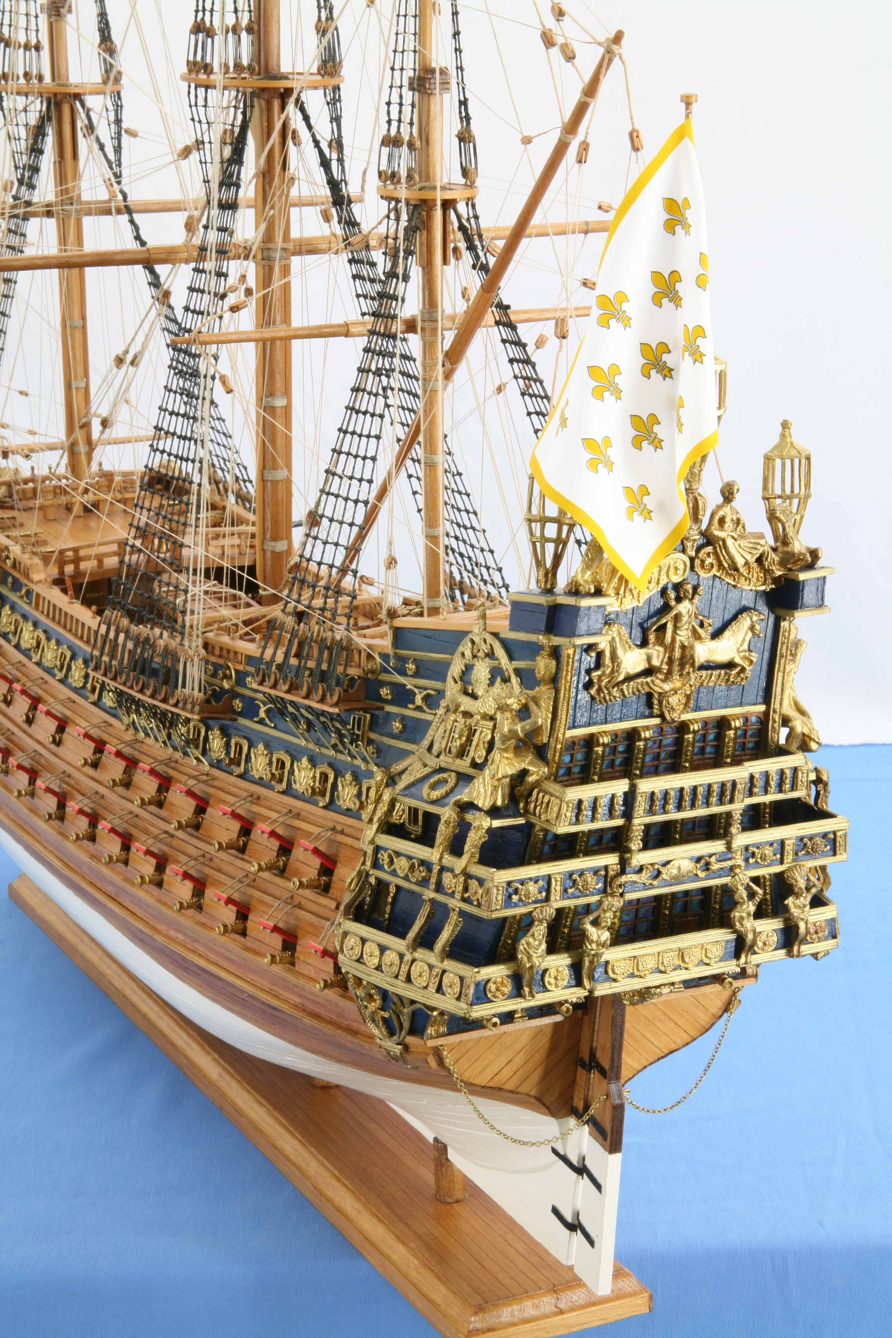 Photos ship model French Soleil Royal of 1669, views of
