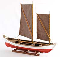 Boat model spritsail craft from Tåsinge, Denmark, of 1890